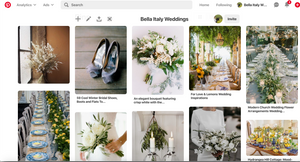 Take a look at our Pinterest Boards for some wonderful ideas for your wedding in Italy