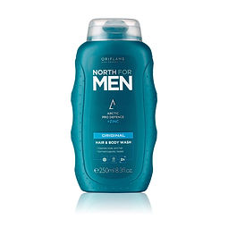 north for men haair and body wash origin