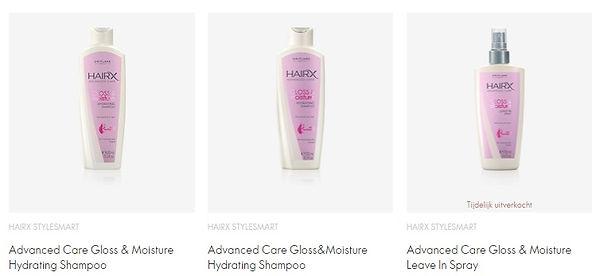 hair x advanced care gloss & moisture.jp