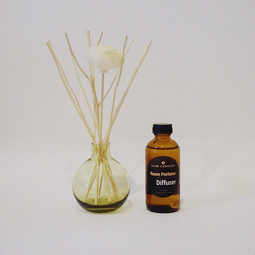 Green Amber Jar Reed Diffuser