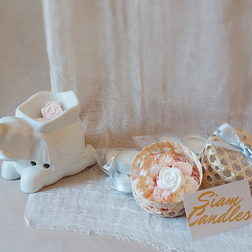 [ 30% OFF ] Scented Soy Wax Melts & Elephant Ceramic Aroma Burner