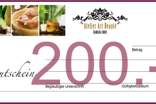 GUTSCHEIN200 von ATELIER ART BEAUTÉ SURSEE