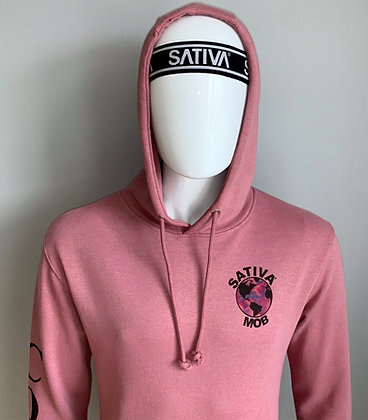 Mauve 'SativaMob World' Spring Hoodie