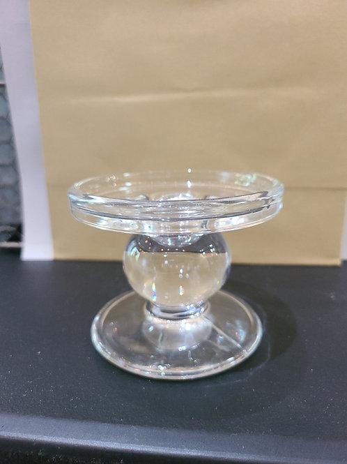 Candlestick - Short Clear Glass