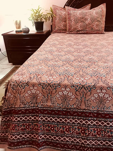 H/BLK Double Bedcover with 2 pillow covers