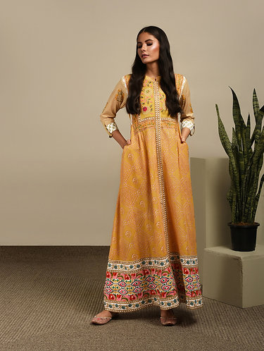 Yellow embroided Dress