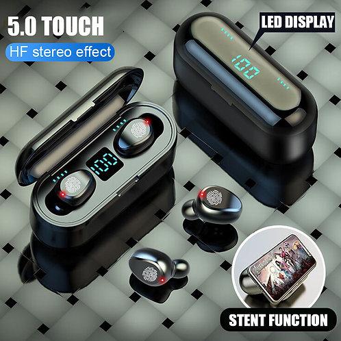 F9 TWS Bluetooth Earphone 5.0 Wireless Bluetooth Earphone With Power Bank Gaming
