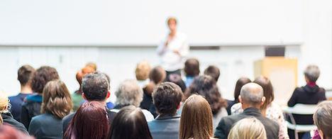 Publikum und Vortragende