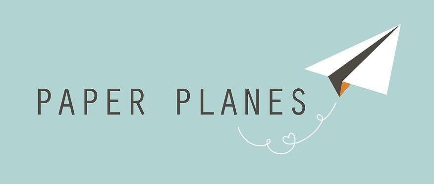 Paper Planes logo grafisch ontwerp en wenskaarten