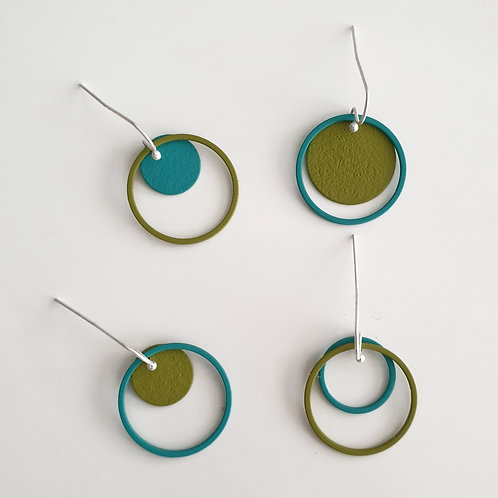 "OORHANGERS ""cOlOrmix"" olijf-turquoise"