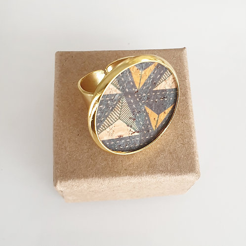 "RING met kurk ""triangles"""