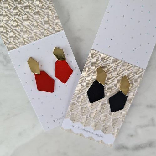 OORSTEKERS met onregelmatige vorm - rood