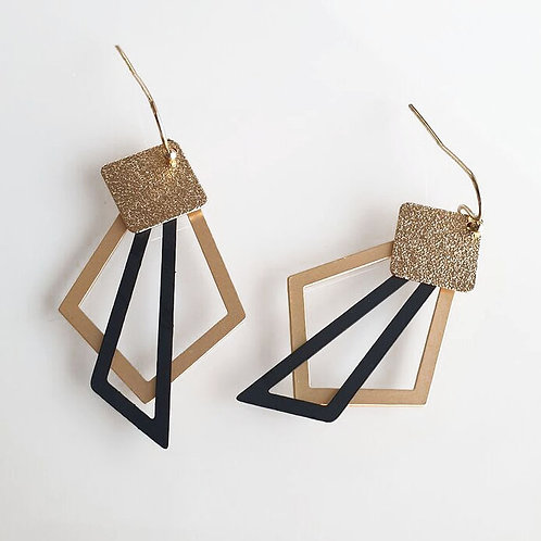 OORHANGERS geo mix black and gold