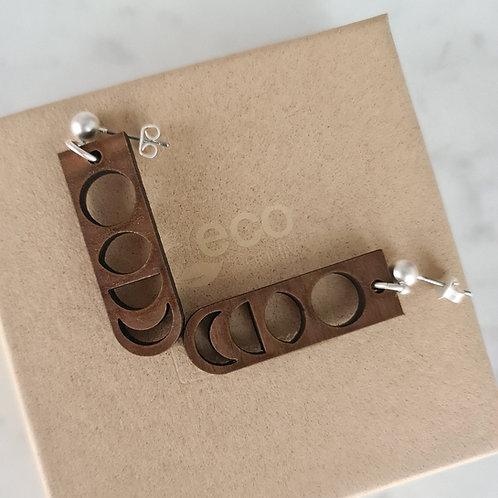 MOON - oorstekers met lange hanger