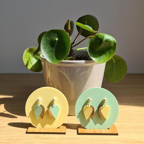 GROW oorbellen tulp munt of geel
