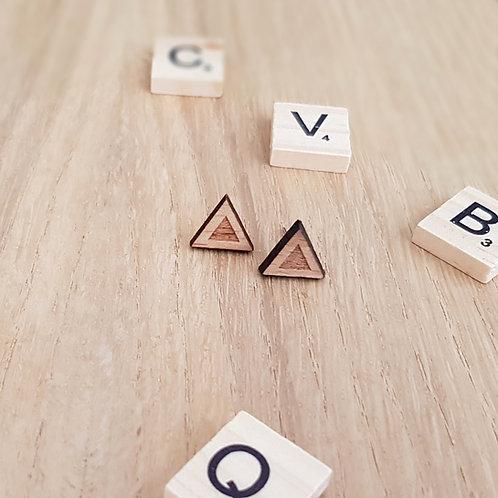 OORSTEKERS hout driehoek