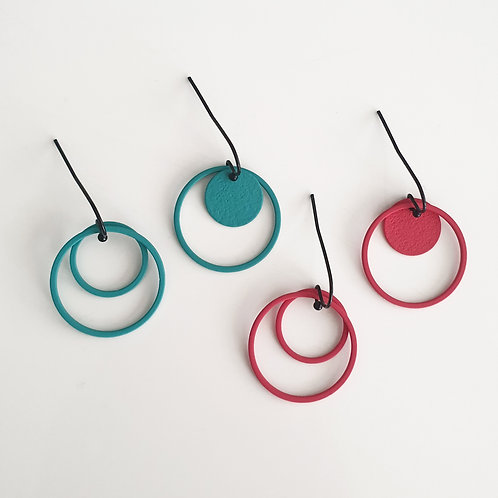 "OORHANGERS ""cOlOrcOllectiOn"" bessenrood of turquoise"