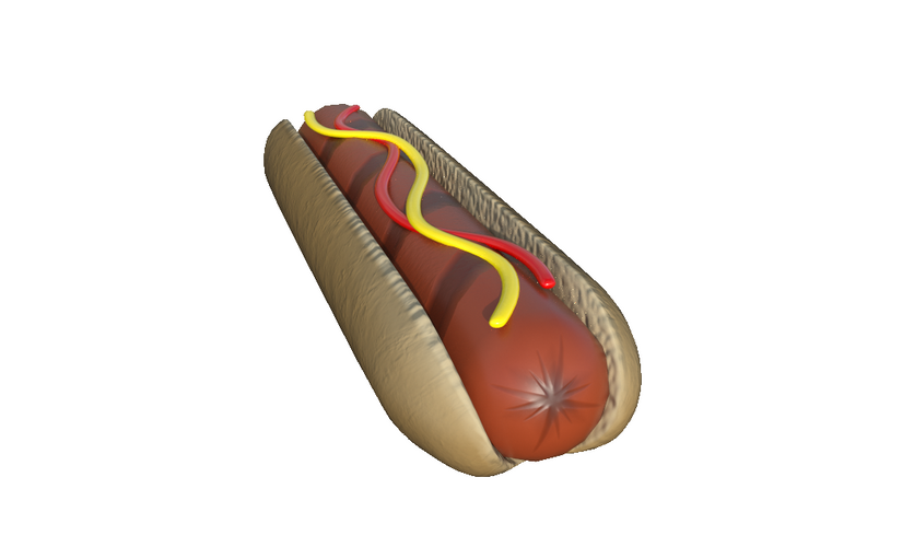 Low Poly Hot Dog