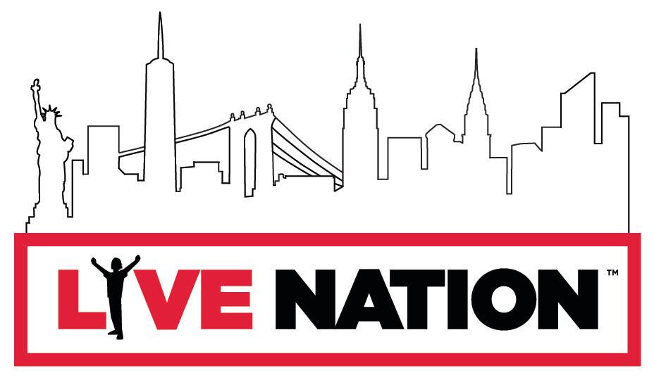 NYC Skyline treatment to existing Live Nation logo