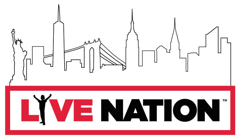NYC Skyline treatment to existing Live Nation logo