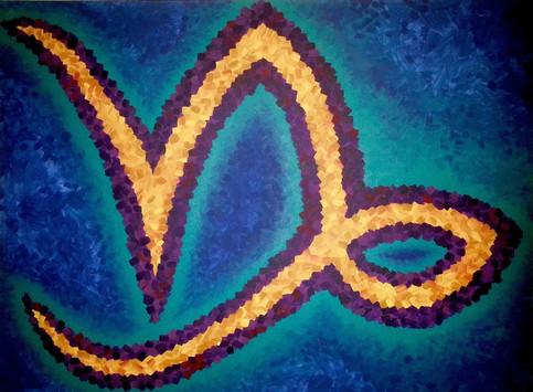 Capricorn Acrylic on Canvas 4' x 3'