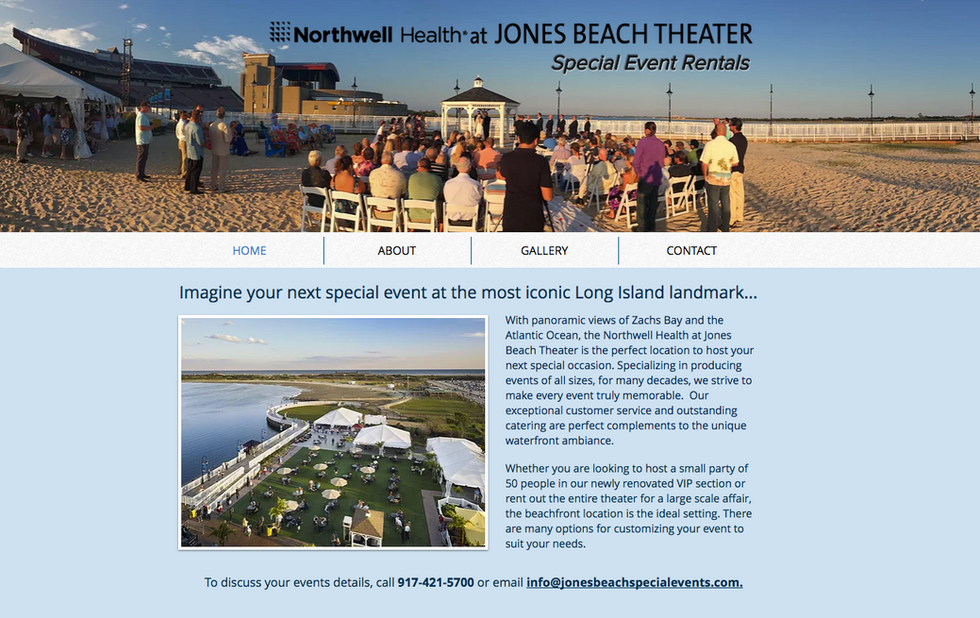 Jones Beach Theater Special Events Website