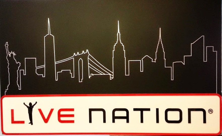 Created NYC Skyline logo above existing Live Nation logo