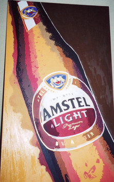 Commissioned Amstel Light Logo Acrylic on Canvas 5' x 3'