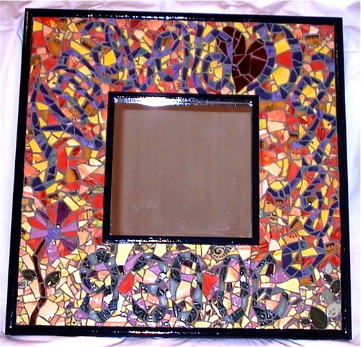 Wedding Mosaic Mirror Mixed Media 2' Square