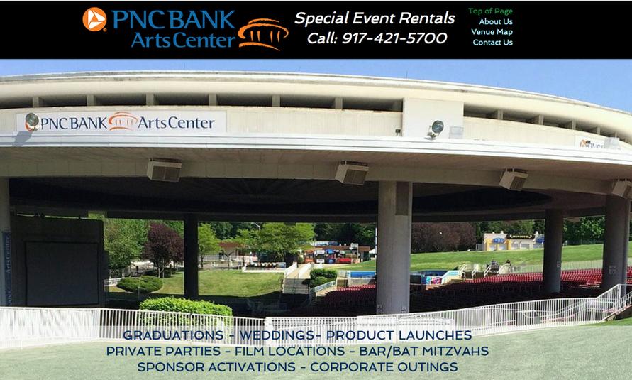 Former PNC Bank Arts Center Special Events Website