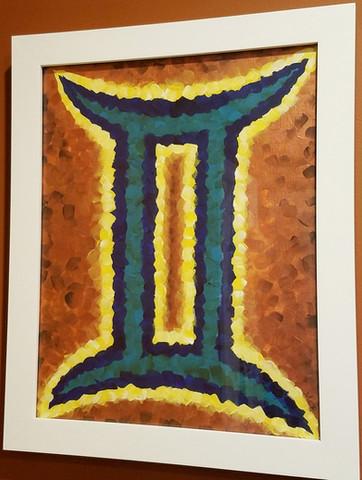 "GEMINI Acrylic on Canvas 12"" x 18"""