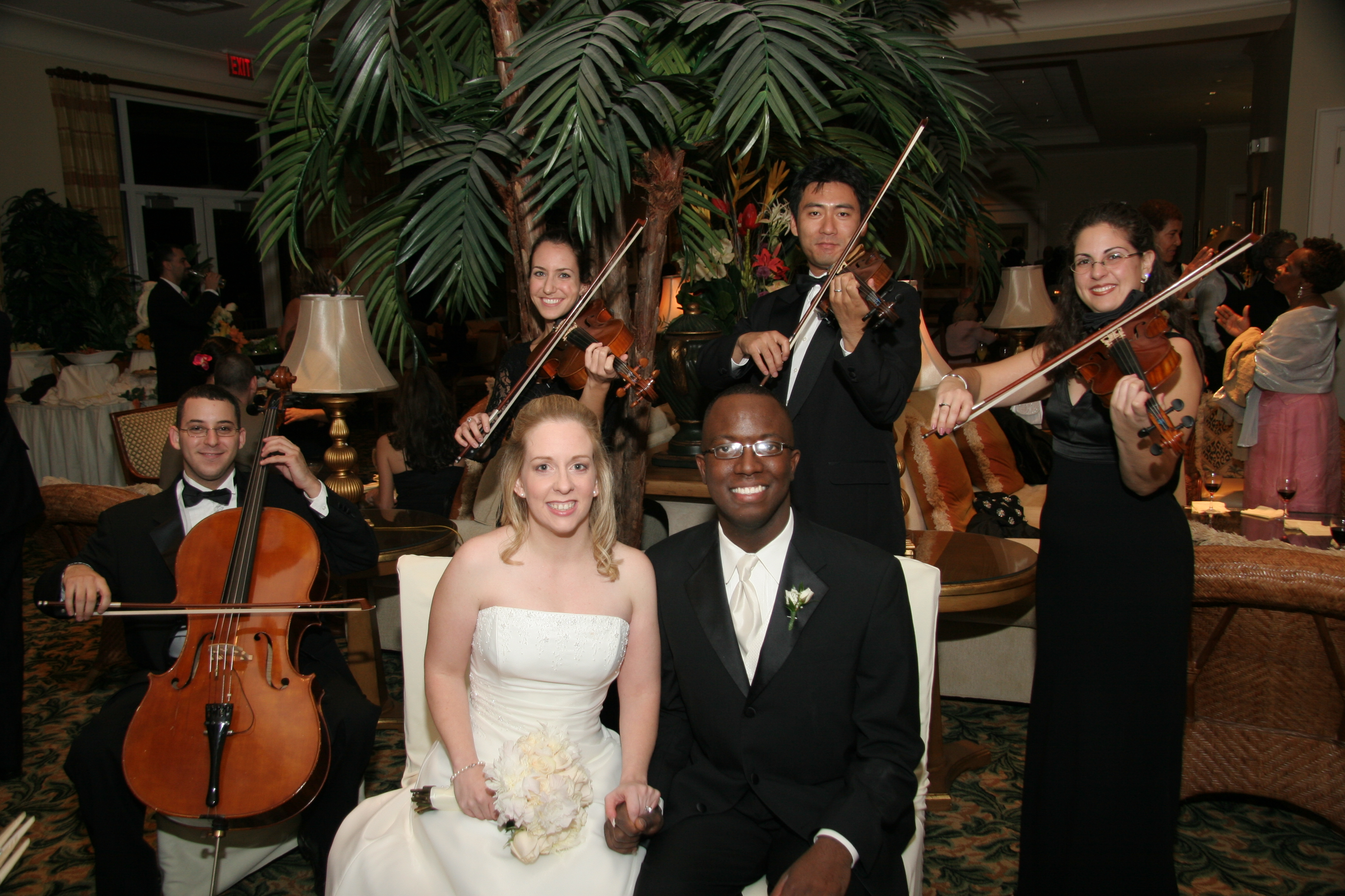 Quartet with bride