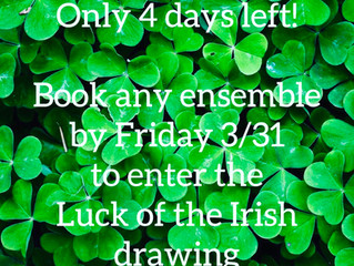 Countdown to the Luck of The Irish Winner!