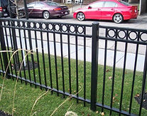Ornamental Fence with Rings