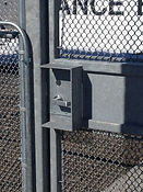 Security gate with door handle