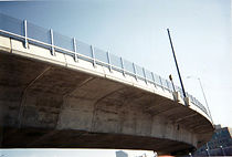 fence on bridge, bridge fence, viaduct fence