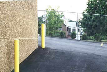 Yellow Bollard Building Protection