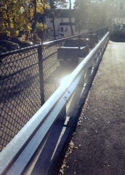 Steel Guardrail with Black CLF