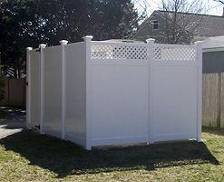 Vinyl Fence, PVC fence, white vinyl fence