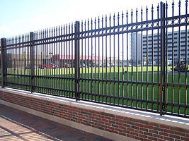 ornamental fence, boston fence, ornamental iron fence