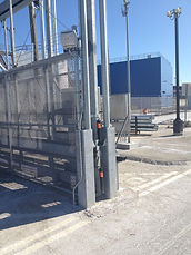 Overhead Track Gate with Operator