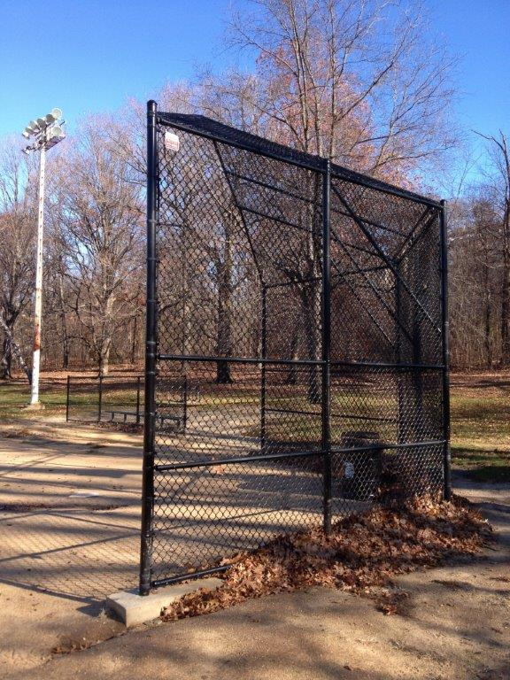 Backstop at Olmstead Park