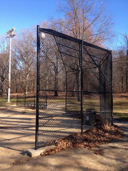 Backstop at Olmstead Park