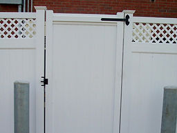 Security Gate with push button lock