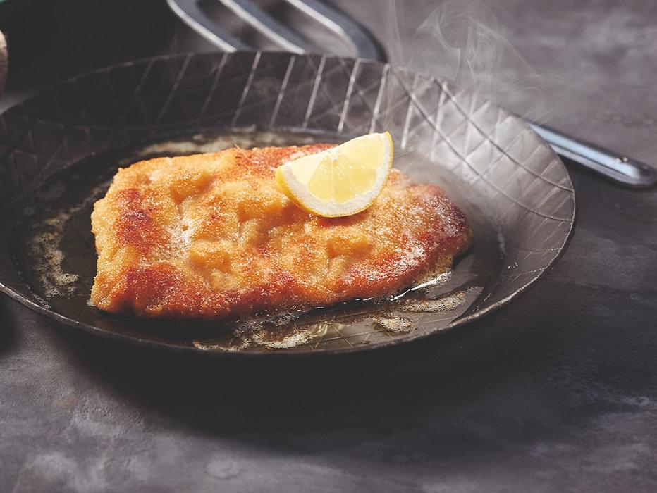 Schnitzel in Pfanne