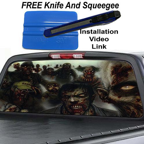 Zombie Walkers Rear Window Graphic Decal Sticker