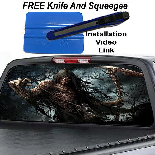 Grim Reaper Rear Window Graphic Decal Sticker