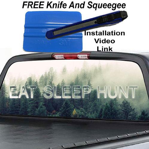 Eat Sleep Hunt Rear Window Graphics