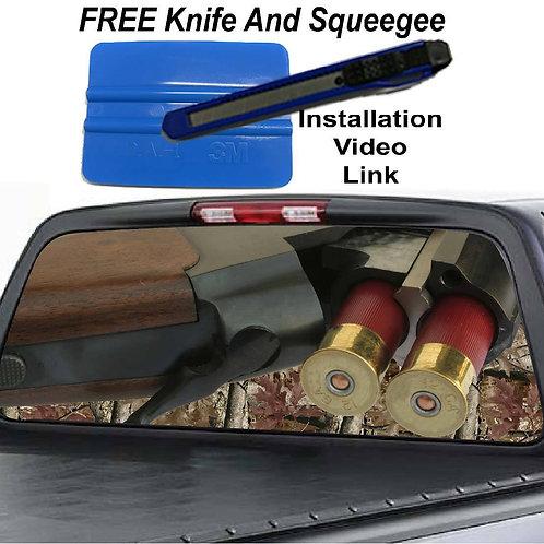Shotgun Rear Rear Window Graphic Decal Sticker