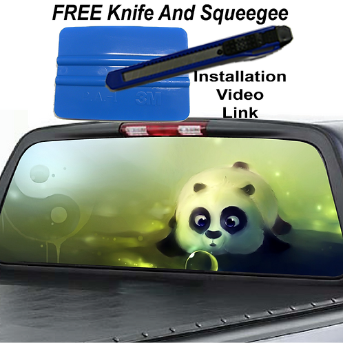 Panda Rear Window Graphics